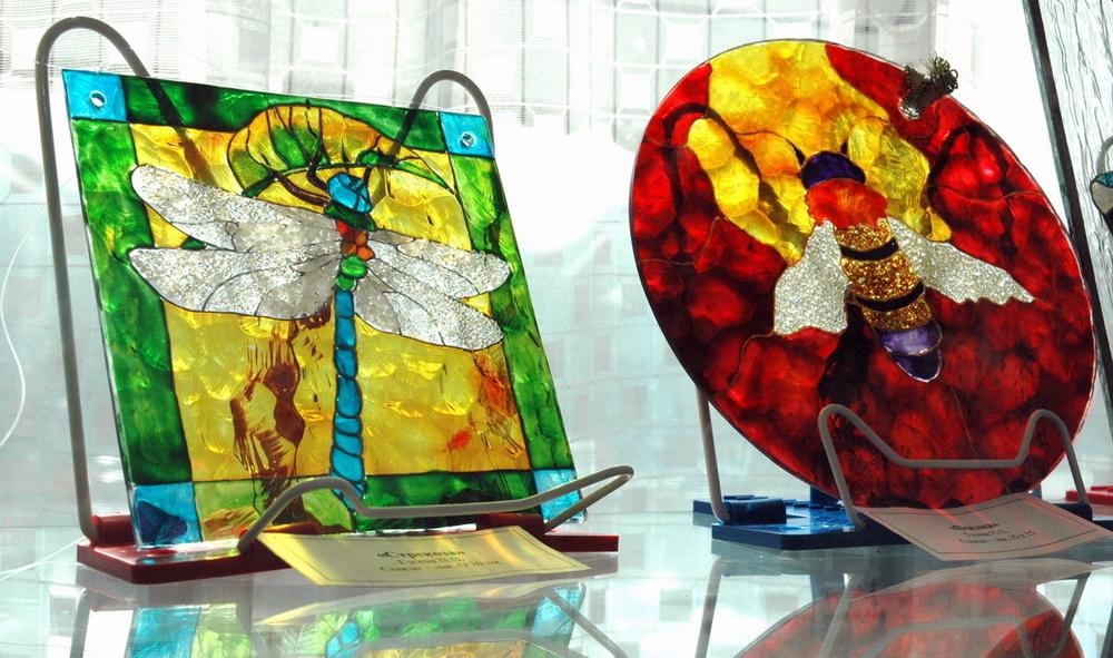 Роспись по стеклу и мозаика